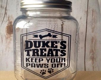 Dog Treat Jar, Dog Treats, Dog Gift, Custom Pet, Pet Gift, Treat Jar, Personalized Dog Treat, Dog Treat Container, Gift for Dog