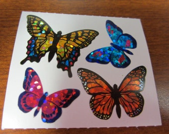 Hambly Sparkle Prismatic Butterfly Stickers