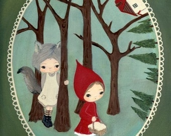 Little Red Riding Hood Print