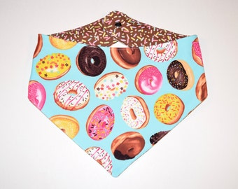 Donuts/Sprinkles, Reversible Dog Bandana, Snap Closure Bandana