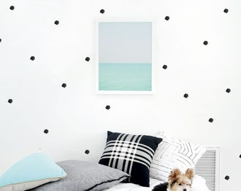 Kids Wall Decal / Dots Wall Decal / Watercolor Decal / Wall Decal Kids / Children Wall Decal / Black Wall Decal. Watercolor Dots Wall Decal