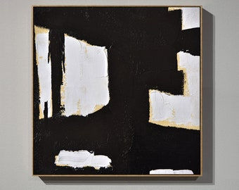 Black white painting etsy for Minimal art venezuela