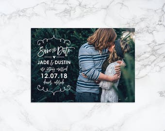 Printable Handwritten Elements with Brush Script Modern Overlay Save the Date Announcement/Invitation