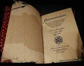 Necronomicon - Medieval black book of the death. Completly handmade - H.P. Lovecraft