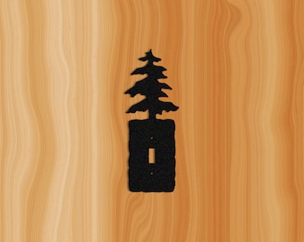 Wall Switch Plate Cover with Pine Tree