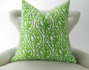 Throw Pillow Cover, Accent Pillow, Decorative Throw, Cushion Cover, Lime Green -MANY SIZES- Kimono Chartreuse, Premier Prints, Free Ship