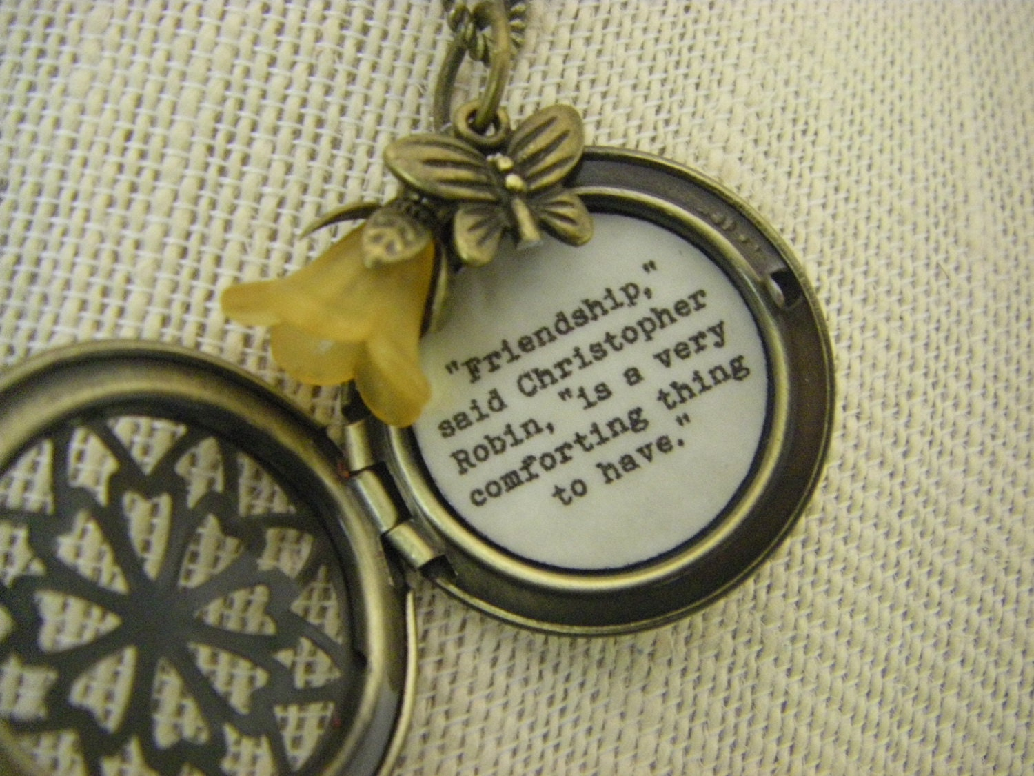 friendship fullxfull njdd listing zoom lockets necklace quote locket pooh friend il jewelry