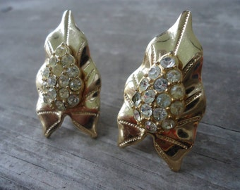Rhinestone Clip - On Earrings