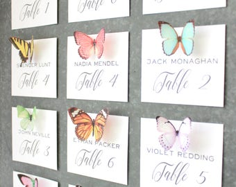20 silk butterfly magnets . set of realistic butterflies . strong magnets . gifts for wedding, bridesmaids, escort cards, menu, reception