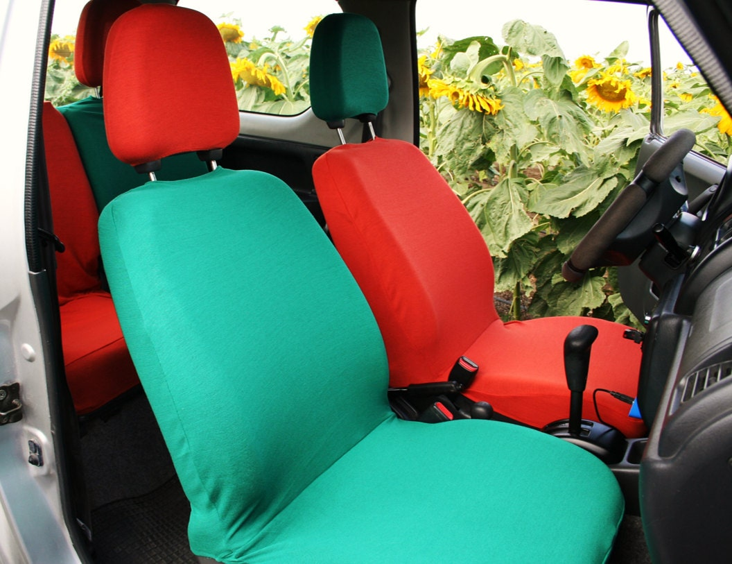 Mix & match colors car seat covers fuxia pink forest green