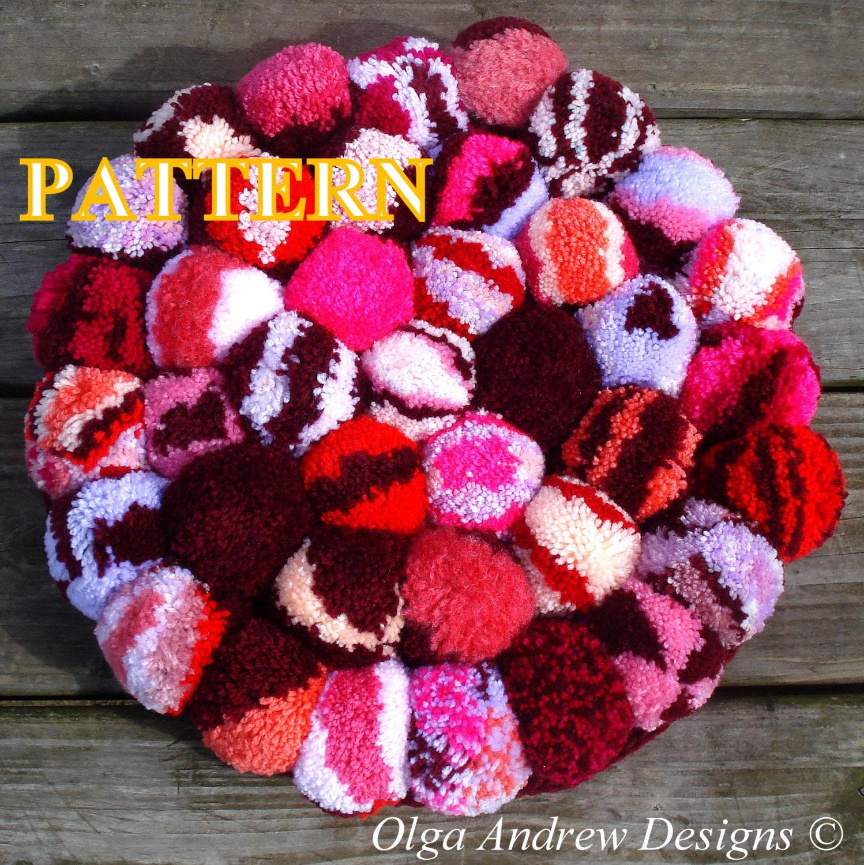 Pompom rug crochet pattern crochet pompom rug pattern pompom
