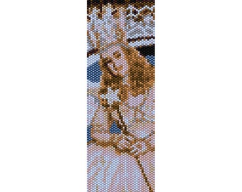 Glinda the Good Witch Peyote Bead Pattern, Bracelet Cuff, Bookmark, Seed Beading Pattern Miyuki Delica Size 11 Beads - PDF Instant Download