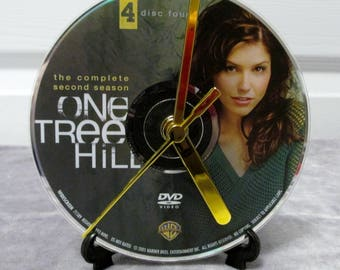 One Tree Hill DVD Clock Upcycled TV Show (Season 2, Disc 4)
