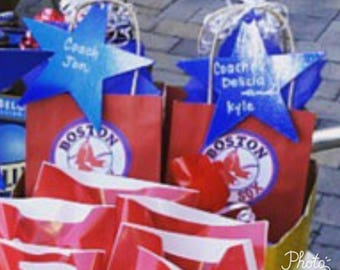 Baseball goodie bags.