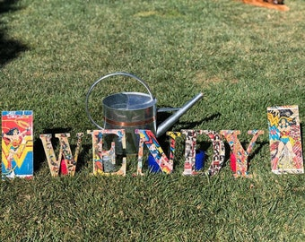 Character wood letters