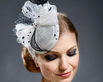 Elegant white small pillbox hat for your special occasions