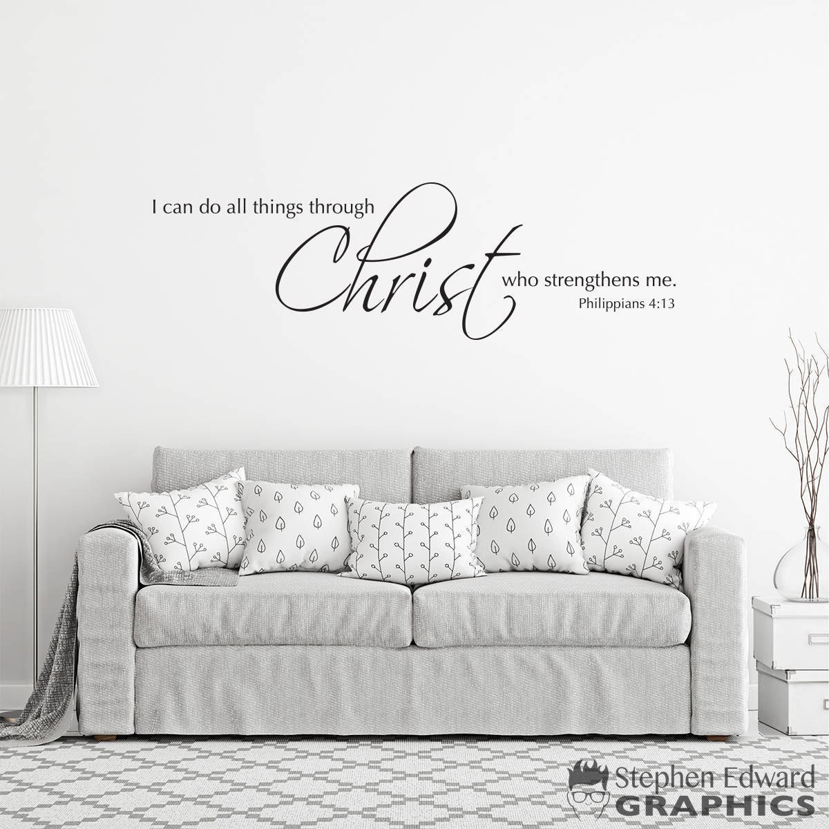 Scripture wall decal i can do all things through christ who zoom amipublicfo Choice Image