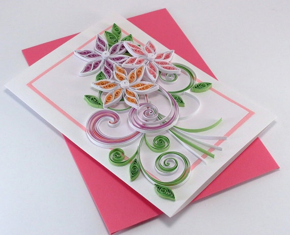 quilling birthday card mom girlfriend thank you card