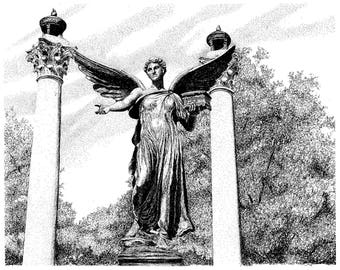 Beneficence Statue, Ball State University ,Muncie Indiana, Digital Download