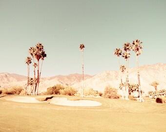 Desert Print, Palm Springs Art, Southwestern Decor, Desert Photography, Golf Course Wall Art, Mountain Print, Urban Decor, Gray Green