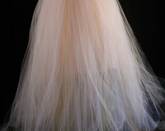 Streamer floor length adult tutu tulle skirt formal Bridal wedding princess ball dance prom carnival - You Choose Size - Sisters of the Moon