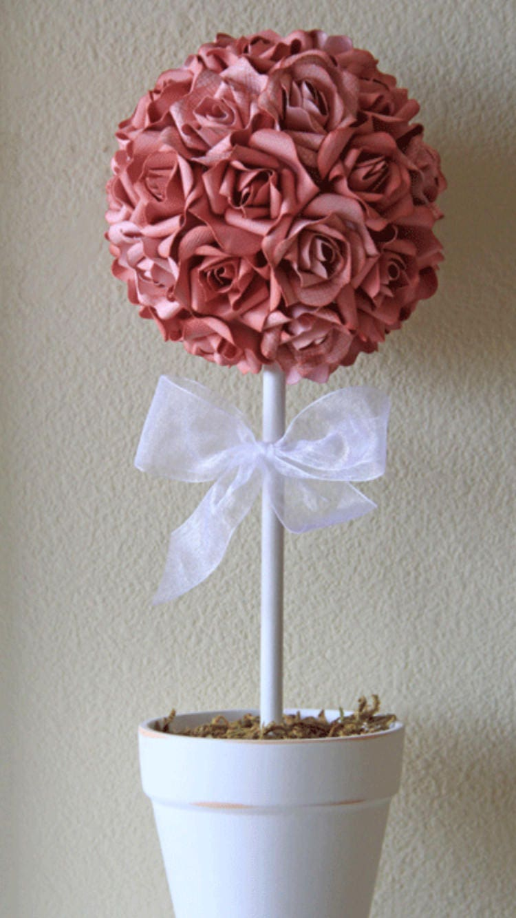 Amazing Paper Flower Topiary Illustration Wedding And Flowers
