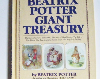 First Edition Beatrix Potter Giant Treasury Hardcover Book Written and Illustrated by Beatrix Potter