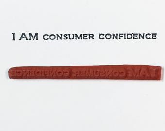 I AM Consumer Confidence - Altered Attic Rubber Stamp - CLEARANCE - Funny Shopping Humor Quote Greeting - Art Craft Scrapbook Mixed Media