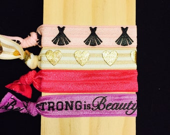 Strong is Beautiful Elastic Hair Tie Set