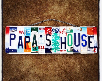 Fathers Day Gift. Retirement Gift. License Plate Art. Home decor. Gift for Grandpa. Papa. Father. Dad. Gift idea