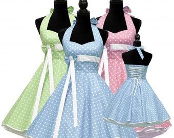 50's vintage dress full skirt bridesmaid sweetheart design custom made Retro