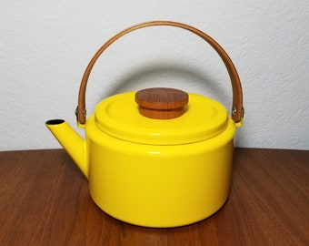 Michael Lax for Copco Yellow Enamel Teapot