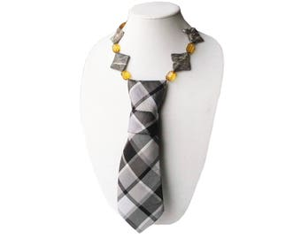 IVY necktie necklace plaid tie candee ivy league ladies necktie corbata collar womens necktie statement necklace preppy trending