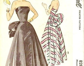 Spring Sale Vintage Original McCall 50s Evening Dress Pattern McCall 8288  Bust 32