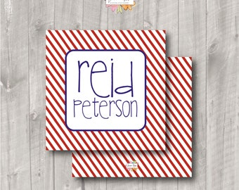 Enclosure Cards - Boys Enclosure Cards - Calling Cards - Kids Calling Cards - Personalized Boys Cards - Gift Tag - Bag Tag