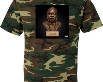 Jadakiss Top 5 Dead or Alive  Camouflage T Shirt Green Woodland Camo