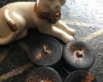 BASTET / Bast Tealights- set of 4 tea light candles, CAT MAGICK
