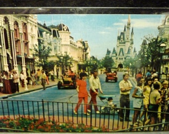 Older DISNEY Main Street USA Post Card- Going by hairstyle - looks like late 50's-early 60's