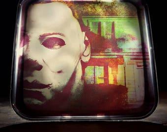Halloween Night Light Retro Horror Decor 80s John Carpenter Halloween Michael Myers Gift Slasher Art Nightlight Plug In Scary Creepy Mask
