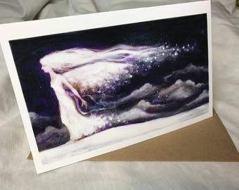 Snow Fae, Greeting Card by Renae Taylor