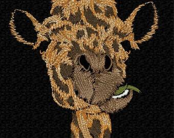 Machine embroidery design 'Giraffe', animals, funny