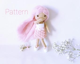 Patrón amigurumi muñeca,Patrón crochet muñeca,Muñeca crochet patrón,Muñeca amigurumi patrón