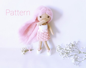 Amigurumi doll pattern, Crochet doll pattern, Doll crochet pattern, Doll amigurumi pattern