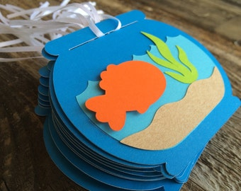 Goldfish Party Gift Tags - Favor Tags, Fishing Party, Gift Tags, Baby Shower, Party Decorations, Under The Sea