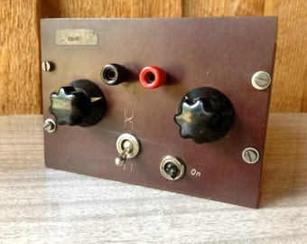 SALE!! Buy 1 get 1/2 off second purchase ELECTRONICS/Steampunk Vintage Electronics Hobbyist collectors knob box//1950's vintage parts