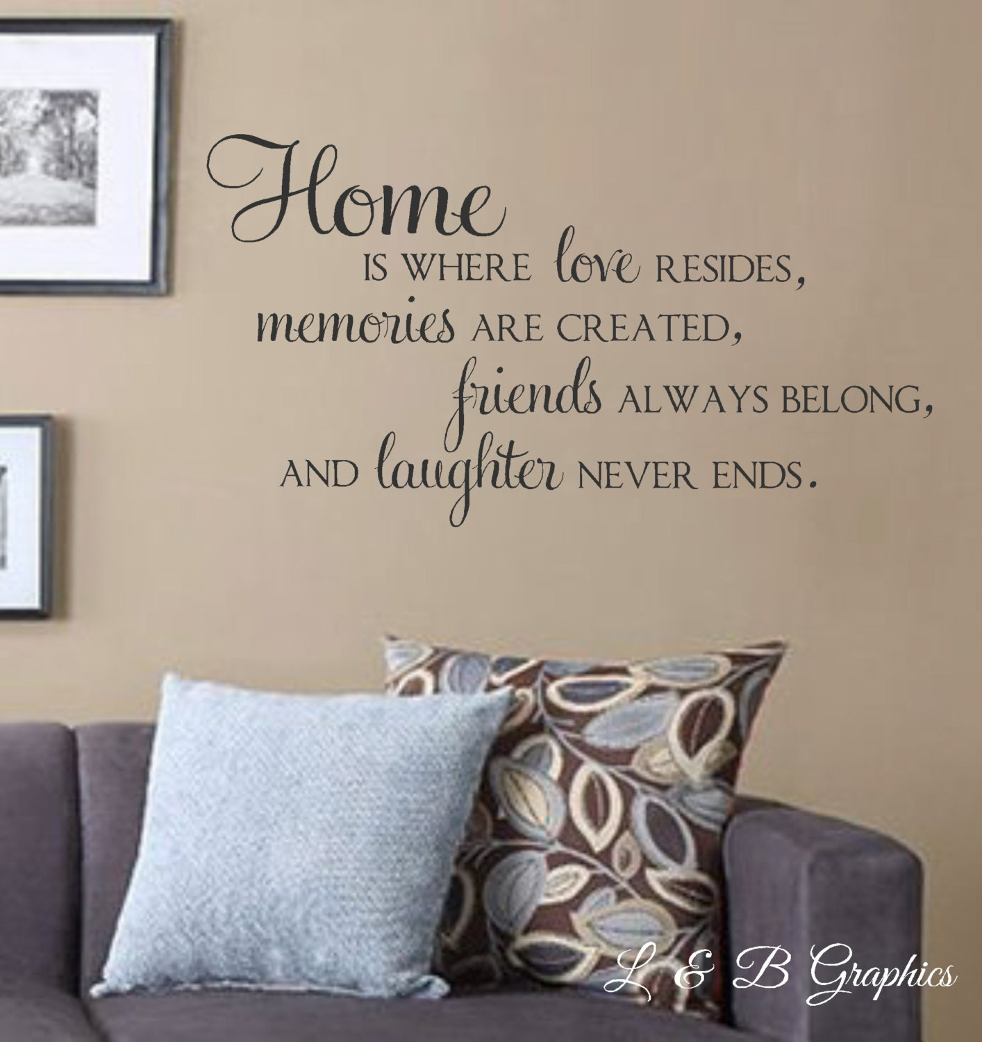 ?zoom & Home Is Where Love Resides Memories Are Created Vinyl Wall