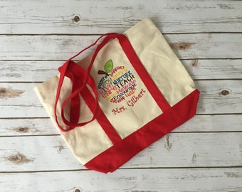 Teacher Tote Bag * I Teach Tote * Teacher Bag * Teacher Appreciation Gift