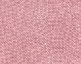 CHARLOTTE'S PINK 32 ct. hand-dyed cross stitch fabric linen by Weeks Dye Works at thecottageneedle.com count