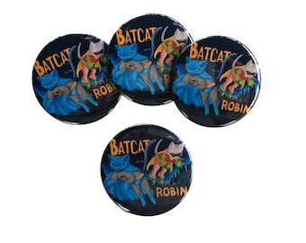 BatCat and I-Ate-A Robin button