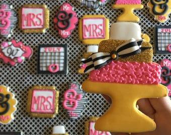 Custom Engagement Sugar Cookies